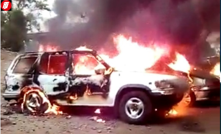 Ambazonian Fighters Kill, Behead Cameroon Soldier, Burn Cars In Buea.