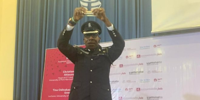 Nigeria's Incorruptible Police Officer Bags Award From Accountability Lab